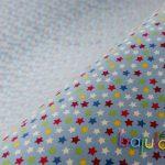 Hellblau mit Sternen   Jersey